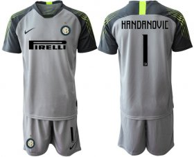 Wholesale Cheap Inter Milan #1 Handanovic Grey Goalkeeper Soccer Club Jersey