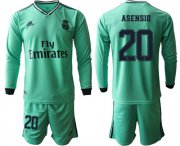 Wholesale Cheap Real Madrid #20 Asensio Third Long Sleeves Soccer Club Jersey