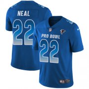 Wholesale Cheap Nike Falcons #22 Keanu Neal Royal Men's Stitched NFL Limited NFC 2018 Pro Bowl Jersey
