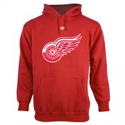 Wholesale Cheap Detroit Red Wings Old Time Hockey Big Logo with Crest Pullover Hoodie Red