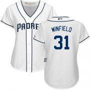 Wholesale Cheap Padres #31 Dave Winfield White Home Women's Stitched MLB Jersey
