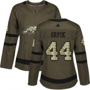 Wholesale Cheap Adidas Capitals #44 Brooks Orpik Green Salute to Service Women's Stitched NHL Jersey