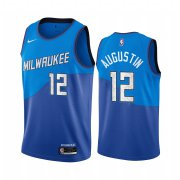 Wholesale Cheap Nike Bucks #12 D.J. Augustin Blue NBA Swingman 2020-21 City Edition Jersey