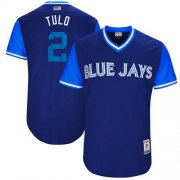 "Wholesale Cheap Blue Jays #2 Troy Tulowitzki Navy ""Tulo"" Players Weekend Authentic Stitched MLB Jersey"