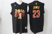 Wholesale Cheap Men's Cleveland Cavaliers LeBron James #23 adidas Black 2017 NBA Finals Patch Champions Stitched Jersey