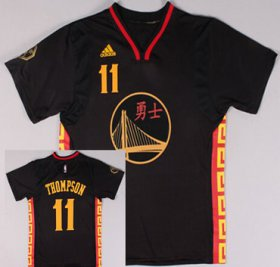 Wholesale Cheap Golden State Warriors #11 Klay Thompson Revolution 30 Swingman 2015 Chinese Black Fashion Jersey