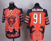 Wholesale Cheap Nike Bears #91 Eddie Goldman Orange Men's Stitched NFL Elite Noble Fashion Jersey