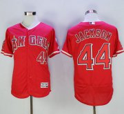 Wholesale Cheap Angels of Anaheim #44 Reggie Jackson Red Flexbase Authentic Collection Stitched MLB Jersey