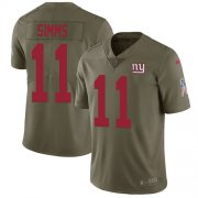 Wholesale Cheap Nike Giants #11 Phil Simms Olive Youth Stitched NFL Limited 2017 Salute to Service Jersey