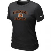 Wholesale Cheap Women's Nike Cincinnati Bengals Heart & Soul NFL T-Shirt Black