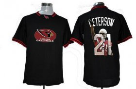 Wholesale Cheap Nike Cardinals #21 Patrick Peterson Black Men\'s NFL Game All Star Fashion Jersey