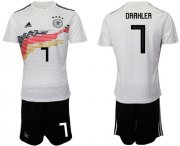 Wholesale Cheap Germany #7 Draxler White Home Soccer Country Jersey