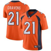 Wholesale Cheap Nike Broncos #21 Su'a Cravens Orange Team Color Men's Stitched NFL Vapor Untouchable Limited Jersey
