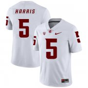 Wholesale Cheap Washington State Cougars 5 Travell Harris White College Football Jersey