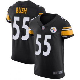 Wholesale Cheap Nike Steelers #55 Devin Bush Black Team Color Men\'s Stitched NFL Vapor Untouchable Elite Jersey