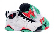 Wholesale Cheap Womens Air Jordan 7 Retro Shoes White/green-red-black