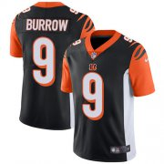 Wholesale Cheap Nike Bengals #9 Joe Burrow Black Team Color Men's Stitched NFL Vapor Untouchable Limited Jersey