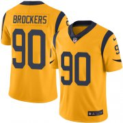 Wholesale Cheap Nike Rams #90 Michael Brockers Gold Youth Stitched NFL Limited Rush Jersey