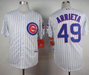 Wholesale Cheap Cubs #49 Jake Arrieta White Home Cool Base Stitched MLB Jersey