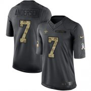 Wholesale Cheap Nike Saints #7 Morten Andersen Black Men's Stitched NFL Limited 2016 Salute To Service Jersey