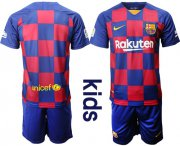 Wholesale Cheap Barcelona Blank Home Kid Soccer Club Jersey