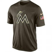 Wholesale Men's Miami Marlins Salute To Service Nike Dri-FIT T-Shirt