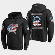 Wholesale Cheap Blue Jackets #62 Alex Broadhurst NHL Banner Wave Usa Flag Black Hoodie
