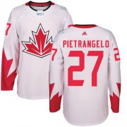 Wholesale Cheap Team Canada #27 Alex Pietrangelo White 2016 World Cup Stitched Youth NHL Jersey