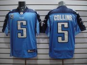 Wholesale Cheap Titans #5 Kerry Collins Stitched Baby Blue NFL Jersey