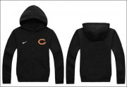 Wholesale Cheap Nike Chicago Bears Authentic Logo Hoodie Black
