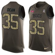 Wholesale Cheap Nike Buccaneers #35 Jamel Dean Green Men's Stitched NFL Limited Salute To Service Tank Top Jersey