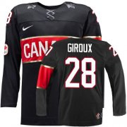 Wholesale Cheap Olympic 2014 CA. #28 Claude Giroux Black Stitched NHL Jersey