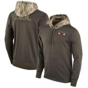 Wholesale Cheap Men's Arizona Cardinals Nike Olive Salute to Service Sideline Therma Pullover Hoodie