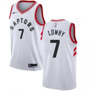 Wholesale Cheap Raptors #7 Kyle Lowry White Women's Basketball Swingman Association Edition Jersey