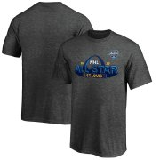 Wholesale Cheap Youth 2020 NHL All-Star Game St. Louis T-Shirt Heather Gray