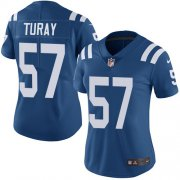 Wholesale Cheap Nike Colts #57 Kemoko Turay Royal Blue Team Color Women's Stitched NFL Vapor Untouchable Limited Jersey