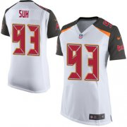 Wholesale Cheap Nike Buccaneers #93 Ndamukong Suh White Women's Stitched NFL New Elite Jersey