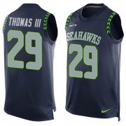 Wholesale Cheap Nike Seahawks #29 Earl Thomas III Steel Blue Team Color Men's Stitched NFL Limited Tank Top Jersey
