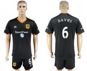 Wholesale Cheap Hull City #6 Davies Away Soccer Club Jersey