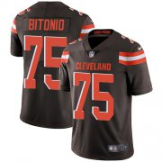 Wholesale Cheap Nike Browns #75 Joel Bitonio Brown Team Color Youth Stitched NFL Vapor Untouchable Limited Jersey