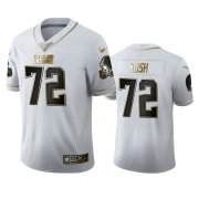 Wholesale Cheap Cleveland Browns #72 Eric Kush Men's Nike White Golden Edition Vapor Limited NFL 100 Jersey