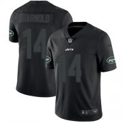 Wholesale Cheap Nike Jets #14 Sam Darnold Black Men's Stitched NFL Limited Rush Impact Jersey