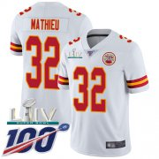 Wholesale Cheap Nike Chiefs #32 Tyrann Mathieu White Super Bowl LIV 2020 Youth Stitched NFL 100th Season Vapor Untouchable Limited Jersey