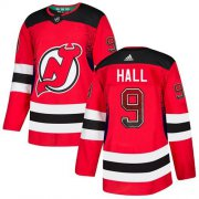Wholesale Cheap Adidas Devils #9 Taylor Hall Red Home Authentic Drift Fashion Stitched NHL Jersey