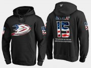 Wholesale Cheap Ducks #15 Ryan Getzlaf NHL Banner Wave Usa Flag Black Hoodie