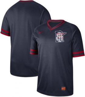 Wholesale Cheap Nike Twins Blank Navy Authentic Cooperstown Collection Stitched MLB Jersey