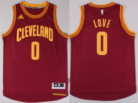 Wholesale Cheap Cleveland Cavaliers #0 Kevin Love Revolution 30 Swingman 2014 New Red Jersey
