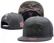 Wholesale Cheap NFL New England Patriots Team Logo Salute To Service Adjustable Hat XD02