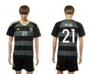 Wholesale Cheap Wales #21 Ward Black Away Soccer Club Jersey