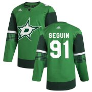 Wholesale Cheap Dallas Stars #91 Tyler Seguin Men's Adidas 2020 St. Patrick's Day Stitched NHL Jersey Green.jpg.jpg